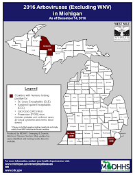 Michigan State Map Emerging Disease Issues Testing Tables U0026 Maps