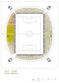 stadium floor plan gallery of lublin city stadium estudio lamela 18