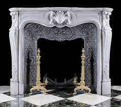 antique white marble louis xv fireplace mantel heritage design