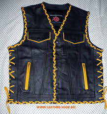 motorcycle riding vest leather vest braided 2 color style mlvb1300 for sale