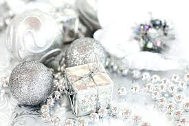 white and silver ornaments decorations silver green and