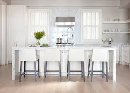 Kitchens With Off White Cabinets Off White Kitchen With Gray Marble Slab Backsplash Transitional