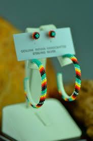 hoop beaded earrings navajo large beaded hoop earrings