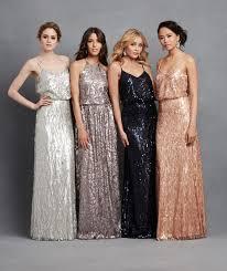 sequin bridesmaid dresses from donnamargannyc wedding metallic