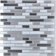 amazon com art3d 10 piece stick on backsplash tile for kitchen
