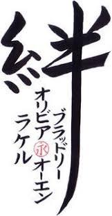 family bonds family ties in japanese symbols is kazoku no