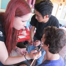san diego makeup school september 2013 cinema makeup school