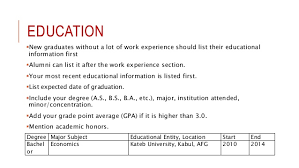 How To List Job Experience On A Resume by Effective Resume Cv Writing