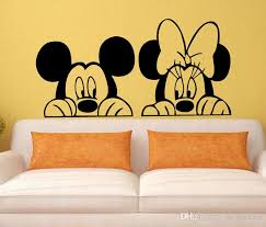 decal removable home decor vinyl decal cartoon mickey minnie mouse