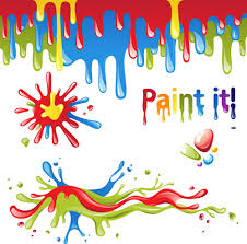 colored paint objects design elements vector 02 vector other