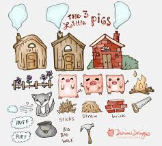 pigs clipart commercial big bad wolf fairy tale