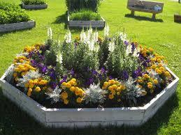 garden awesome flower garden ideas charming colourful six shape