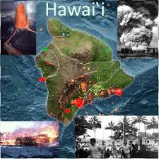 Hawaii Lava Flow Map Hazards On The Island Of Hawaii