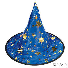 wizard hat with stars