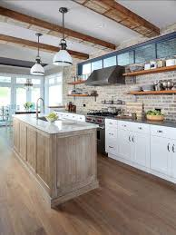 brick backsplash kitchen stunning kitchens with brick backsplash for pleasant atmosphere