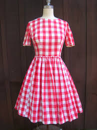 vintage red checkered picnic tablecloth gingham country style