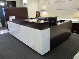 Reception Desks Calacatta Reception Desk Commercial Custom Fabrication