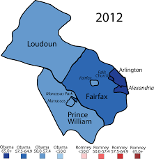 Northern Virginia Zip Code Map by Larry J Sabato U0027s Crystal Ball Democrats And The White House