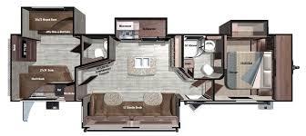 2017 k z rv durango 1500 d281rlt fifth wheel floorplan camping