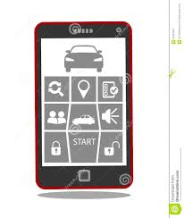 remote car starter or control system mobile phone application