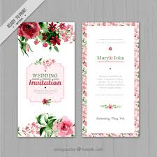 wedding invitations free watercolor floral wedding invitation vector free
