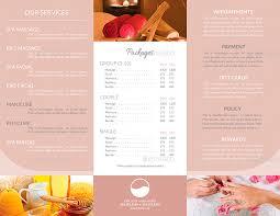 spa brochure health u0026 beauty spa brochure template salon u0026 day