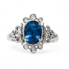 sapphire and engagement rings vintage sapphire engagement rings trumpet horn