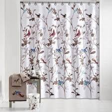 Bird Print Curtain Fabric Shower Curtains Birds Foter