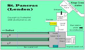 St Pancras Floor Plan Dudley Mall Nottingham To Bedford U0026 London Rail Services