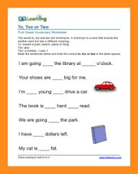 9 first grade english worksheets lvn resume