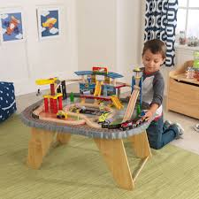 kidkraft transportation station train set u0026 table 17564