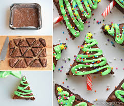 How To Decorate A Christmas Tree Easy Christmas Tree Brownies
