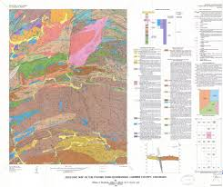 A Map Of Colorado by Geologic Colorado Poudre Canyon Area Maplets