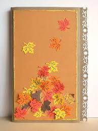 simple sweet leafy thanksgiving card allfreepapercrafts