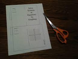 solving systems of equations foldable booklets