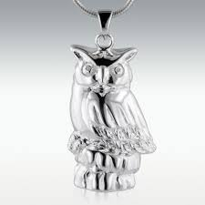 urn jewelry owl sterling silver cremation jewelry memorials