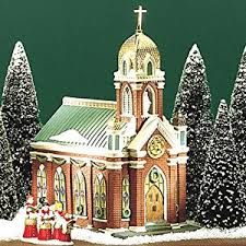 department 56 in the city holy name church