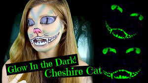 glow in the dark cheshire cat halloween makeup 2015 youtube