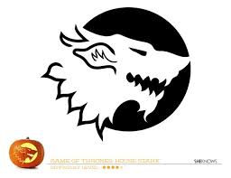 game of thrones house of stark pumpkin carving template free