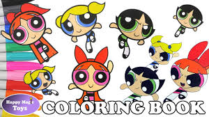 the powerpuff girls coloring book compilation 4 buttercup bubbles