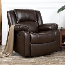Faux Leather Recliner Belleze Deluxe Padded Brown Faux Leather Recliner Chair Lounge