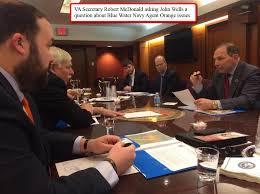 Blue Water Navy Vietnam Veterans 784 John Wells Met With Va Secretary Robert Mcdonald