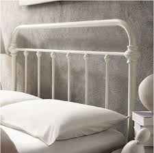 Antique White Metal Bed Frame Antique White Graceful Lines Iron