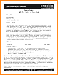 Sample Letter For Lease Termination Sample 30 Day Notice To Vacate 30 Day Notice To Quit Printable