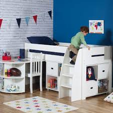 Midi Bed With Desk Quickshop Merlin Mid Sleeper Bed With A Storage Unit U0026 A Pull Out