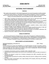 Manager Sample Resume Sample Resume For Sales Manager Free Resumes Tips