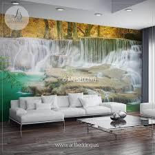 home decor waterfalls waterfalls springtime self adhesive photo mural artbedding