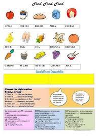 24 free esl food nouns worksheets