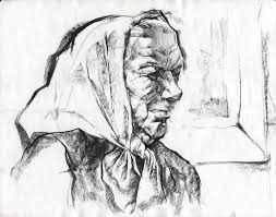 drawing of old lady pencil ghita laurentiu daily sketch blog