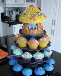 How To Make Tiki Hut Coolest Tiki Hut Cake And Beach Cupcakes
